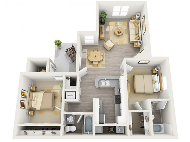Floor Plan 7 | Keystone Apartments