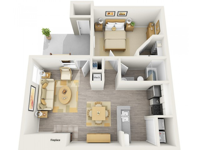 Floor Plan 4 | Keystone Apartments