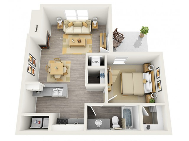 Floor Plan 1 | Keystone Apartments