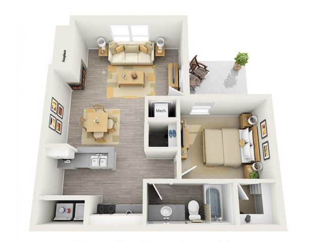 Floor Plan 2 | Keystone Apartments