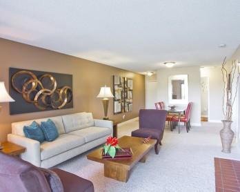 Elegant Living Room   One Bedroom Apartments Denver   Summitt Ridge