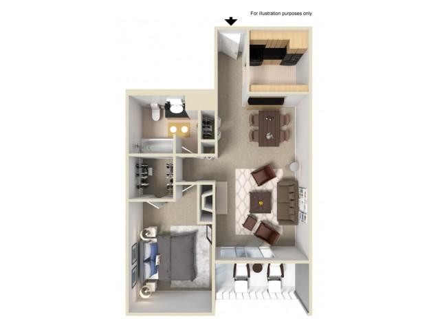 1 Bedroom Floor Plans | Summit Ridge