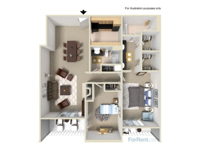 2 Bedroom Floor Plans | Summit Ridge