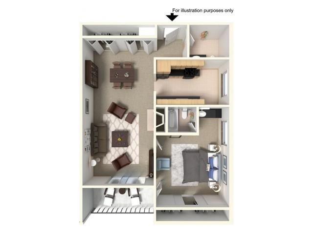 1 Bedroom Floor Plans 2 | Summit Ridge