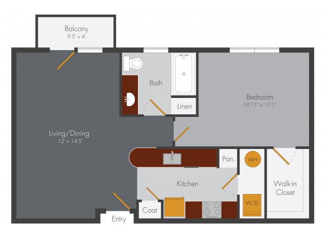 One Bedroom | Pencil Factory Flats