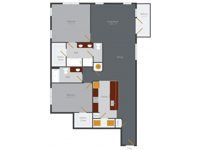One Bedroom 13 | Pencil Factory Flats