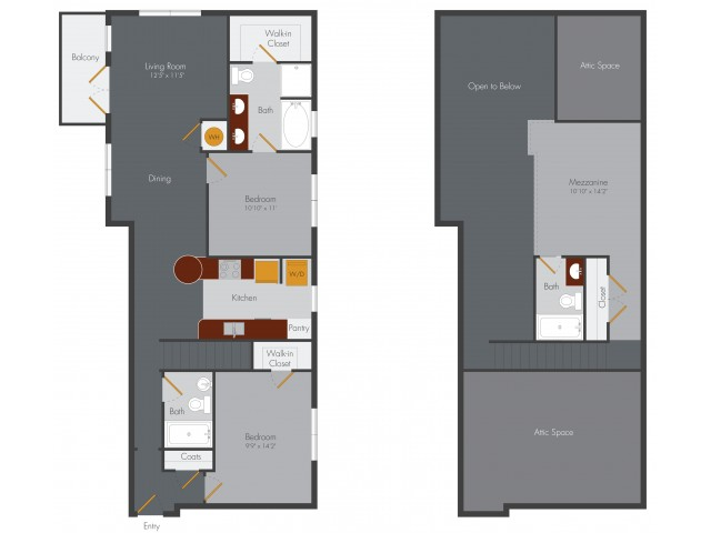 Two Bedroom 13 | Pencil Factory Flats