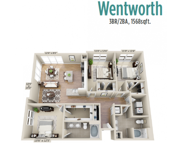 Floor Plan 6 | Apartments For Rent Mount Pleasant SC | Riviera at Seaside