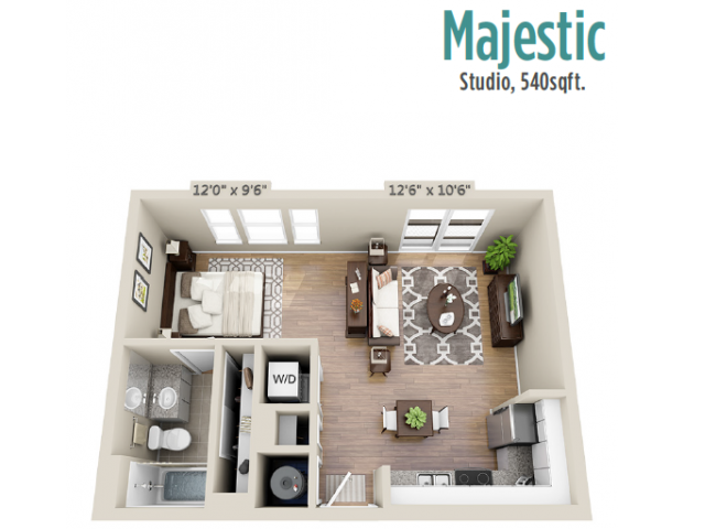 Floor Plan 4 | Mount Pleasant Apartment | Riviera at Seaside