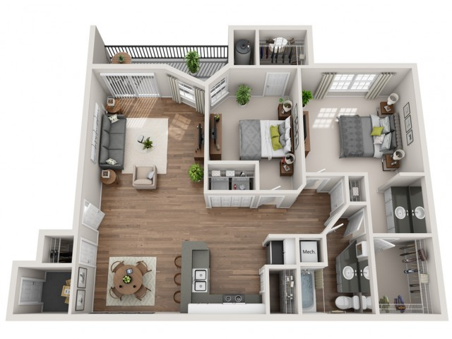 Two Bedroom | Terrazzo | Austin TX