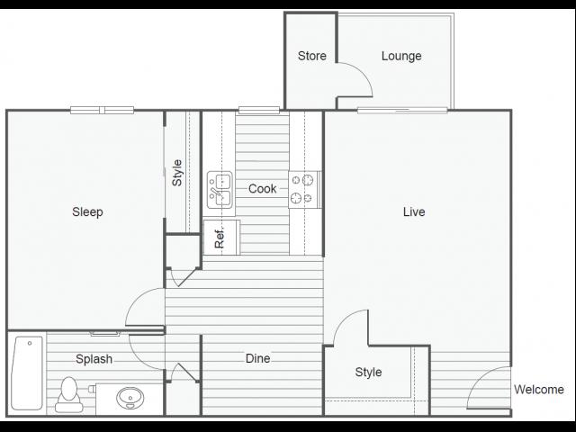 Floor Plan 1   Apartments Tempe AZ   505 West