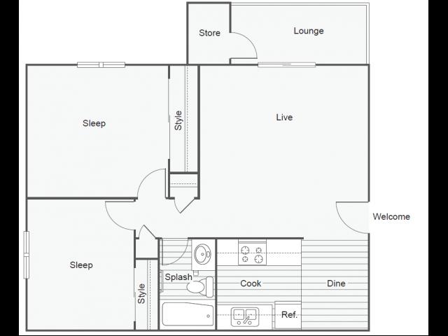 Floor Plan 4   Luxury Apartments In Tempe   505 West