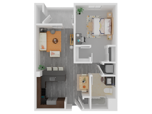 One And Two Bedroom Apartments In Hayward Floor Plans
