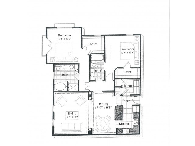 E7 | 2 bed 2 bath | from 1400 square feet