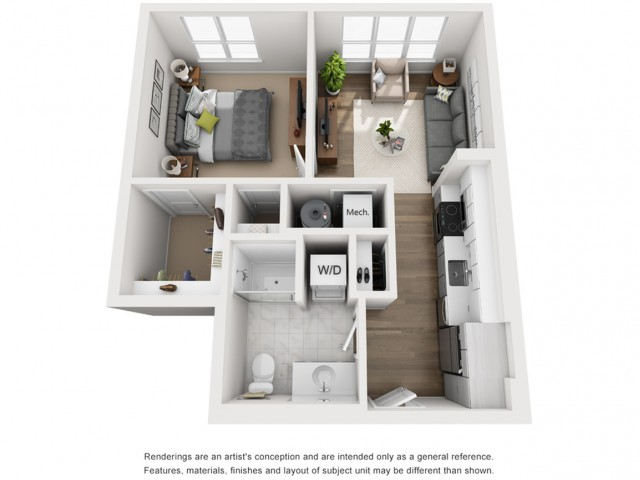 Floor Plan 8 | Somerville Apartments | Montaje