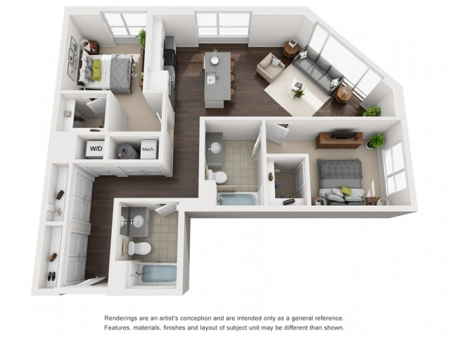 Floor Plan 15 | Apartment In Somerville MA | Montaje