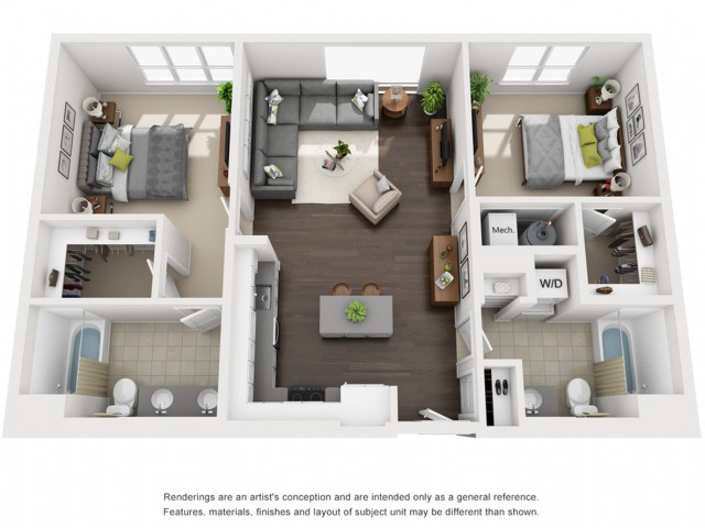 Floor Plan 16 | Somerville Luxury Apartments | Montaje