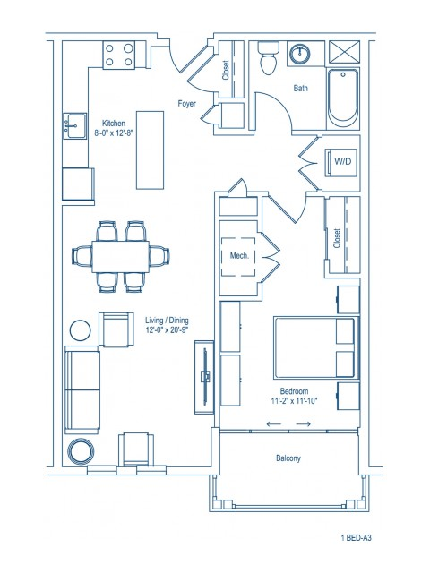 Floor Plan of 1-A3
