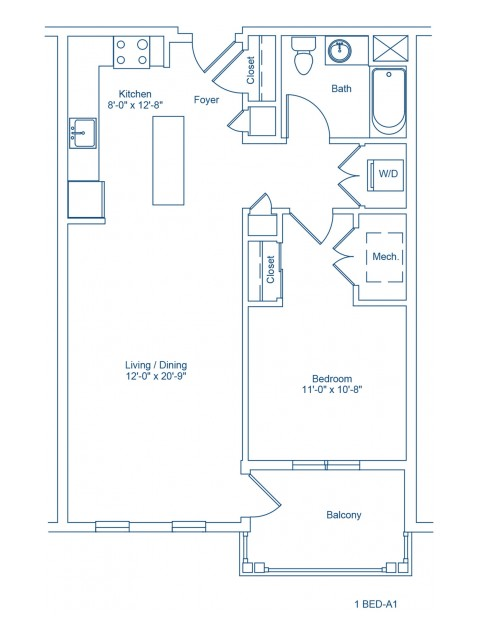 Floor Plan of 1-A1