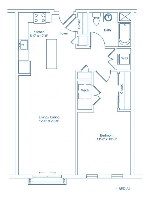 Floor Plan of 1-A4