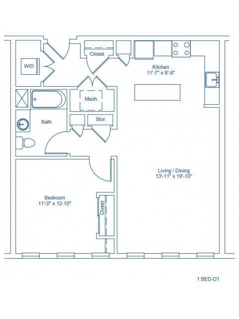 Floor Plan of 1-D1