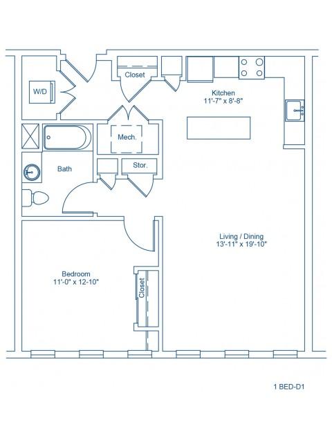 The Shipyard Floor Plan - 1-D1