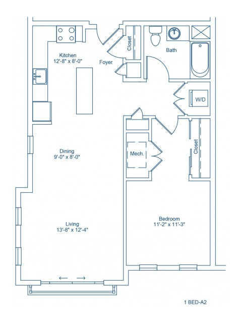 Floor Plan of 1-A2