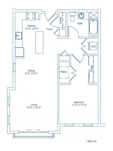The Shipyard Floor Plan - 1-A2