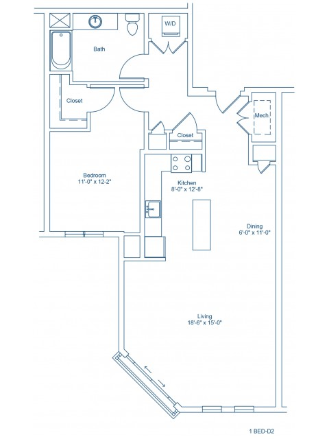 Floor Plan of 1-D2