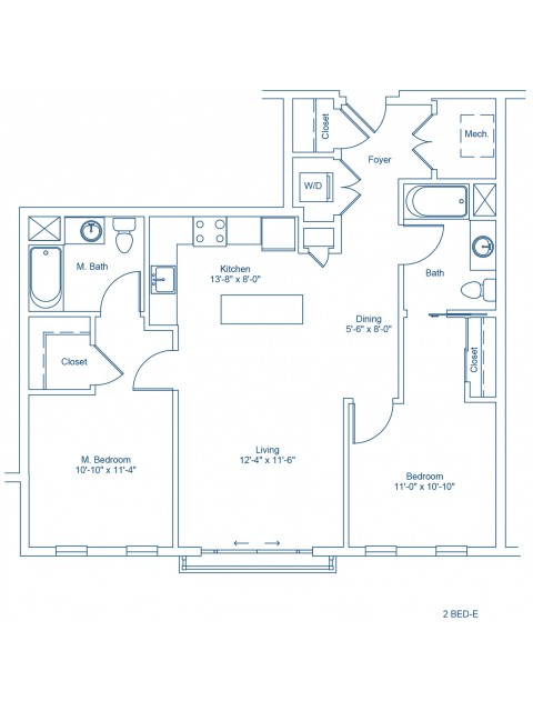 Floor Plan of 2-E