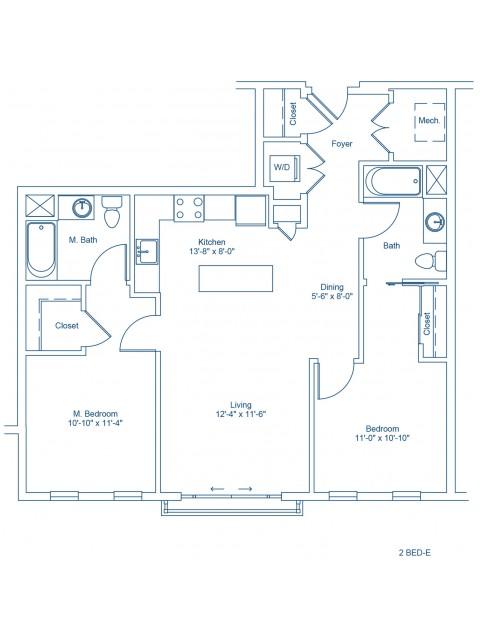 The Shipyard Floor Plan - 2-E