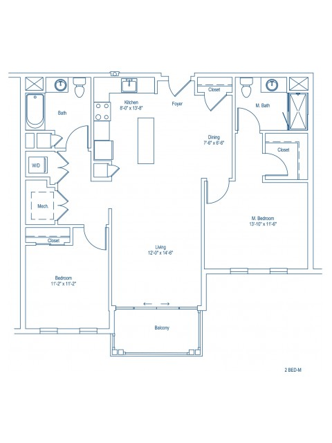 Floor Plan of 2-M