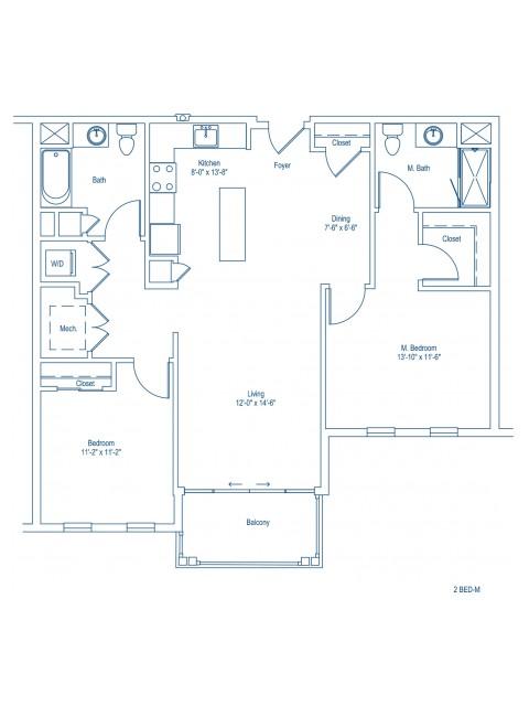 The Shipyard Floor Plan - 2-M