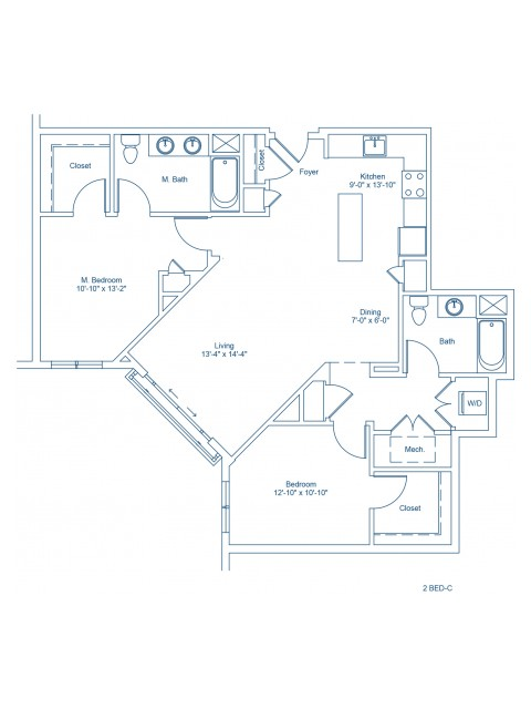 Floor Plan of 2-C