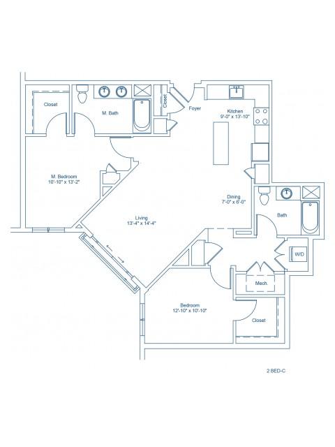 The Shipyard Floor Plan - 2-C