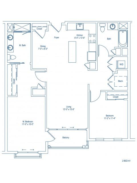 The Shipyard Floor Plan - 2-A1