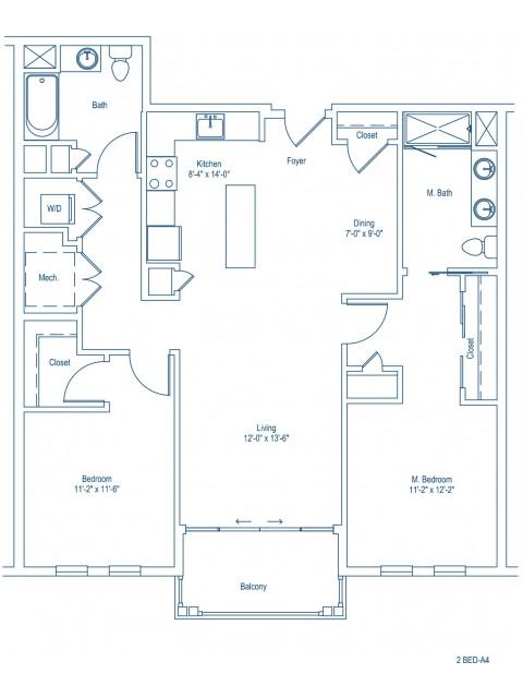 The Shipyard Floor Plan - 2-A4