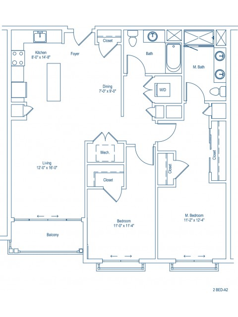 The Shipyard Floor Plan - 2-A2