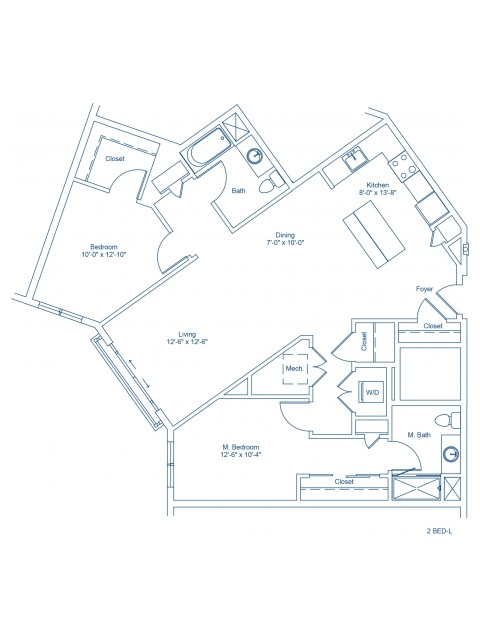 The Shipyard Floor Plan - 2-L
