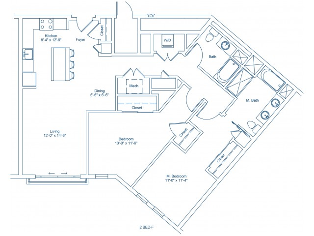 Floor Plan of 2-F