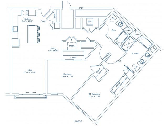 The Shipyard Floor Plan - 2-F