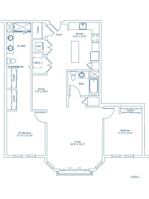 Floor Plan of 2-J