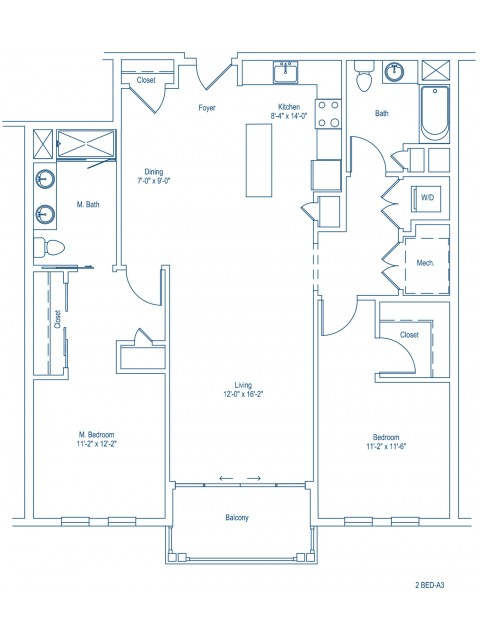 Floor Plan of 2-A3
