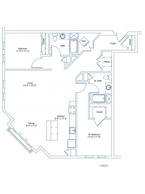 Floor Plan of 2-K