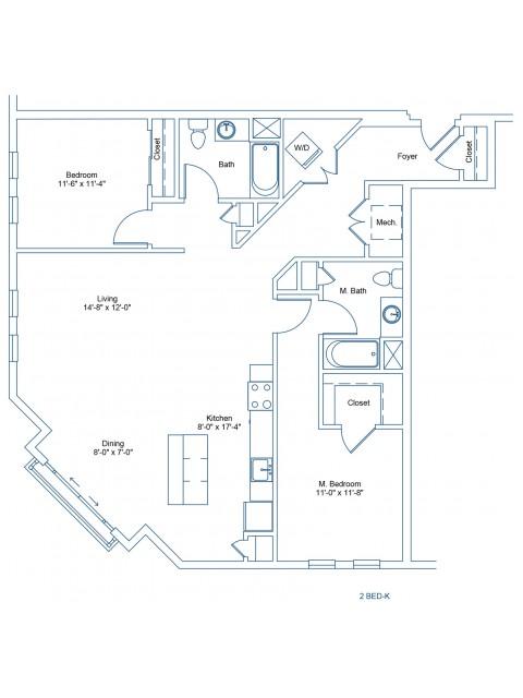 The Shipyard Floor Plan - 2-K