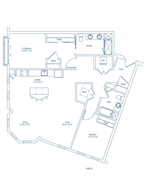 Floor Plan of 2-G
