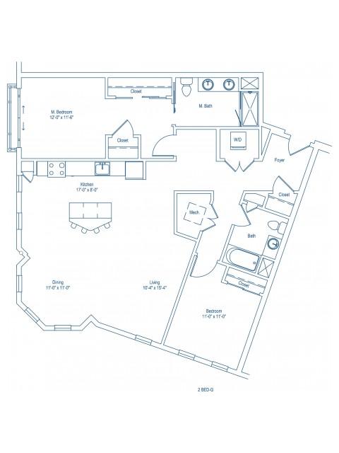 The Shipyard Floor Plan - 2-G
