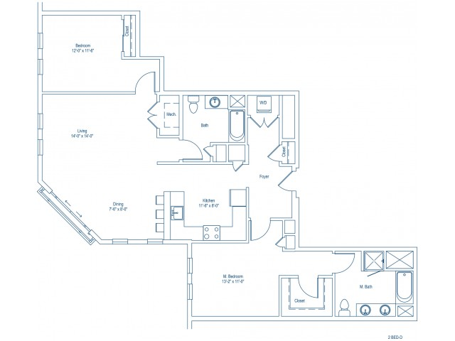 Floor Plan of 2-D