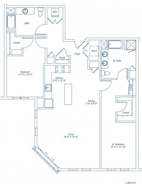 The Shipyard Floor Plan - 2-D1