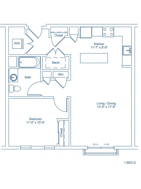 Floor Plan of 1-D